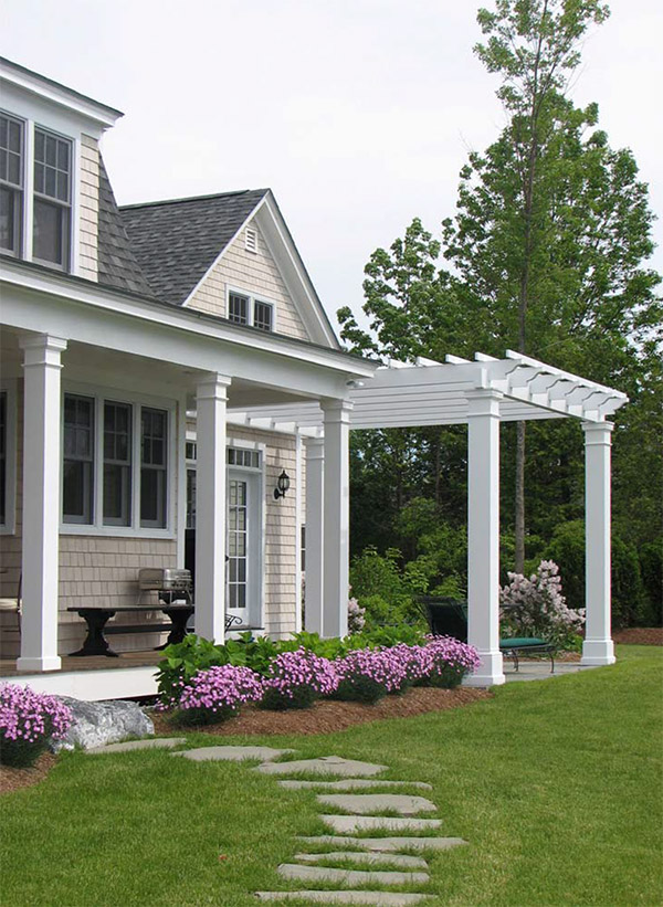 Patio and trellis of a custom-built Connor Home