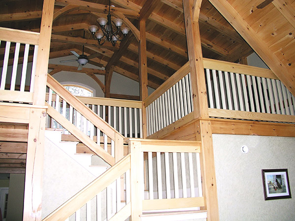 Smith Building Company custom-built home balcony, stairway, and landing