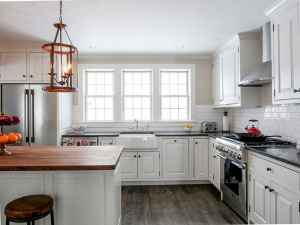 White Kitchen and windows