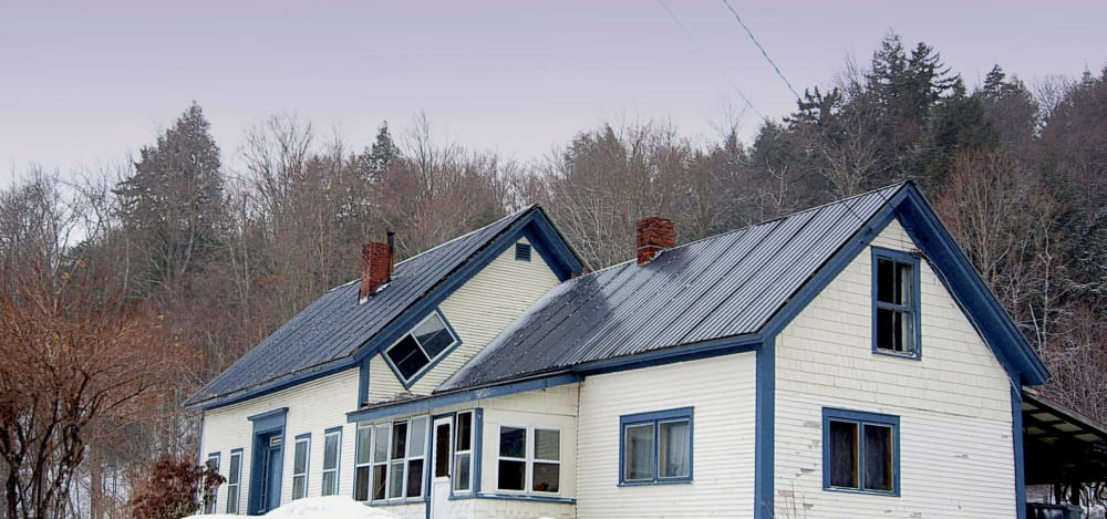 slanted windows in vermont homes